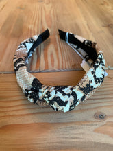 Load image into Gallery viewer, Brown Snakeskin Headband
