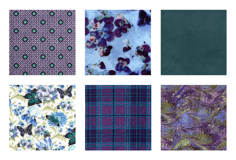 TEAL GARDEN - Teal/Purple
