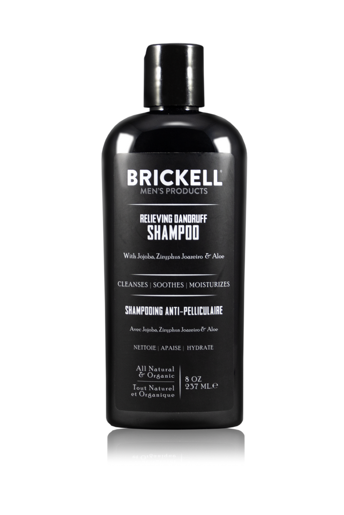 Relieving Dandruff Shampoo, Brickell Men's Products, Jojoba, Ziziphus Joazeiro Bark Extract, Aloe Vera, Shampoo for Dandruff, Flaky Hair, Itchy Scalp, Best Shampoo for men, Top rated shampoo, shampoo and conditioner