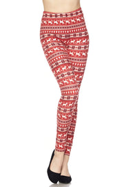 Santas Reindeer Leggings For Women