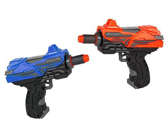 World Tech Warrior Spring Pump Micro Dart Blaster 2-Pack - case-o-rama.com