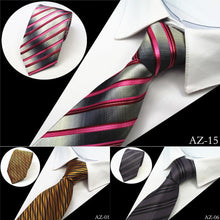 Load image into Gallery viewer, JEMYGINS New Design 100% Silk Men Tie 8cm Striped Classic Business Neck Tie For Men Suit For Wedding Party Necktie Factory Sale - case-o-rama.com