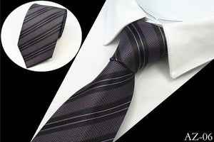 JEMYGINS New Design 100% Silk Men Tie 8cm Striped Classic Business Neck Tie For Men Suit For Wedding Party Necktie Factory Sale - case-o-rama.com