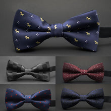 Load image into Gallery viewer, GUSLESON NEW Dot Bow Tie Wedding Bowtie Noeud Papillon Boys & Girls Polyester Silk Pajaritas Cravat Bowties Female Male Neckwear - case-o-rama.com