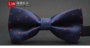 GUSLESON NEW Dot Bow Tie Wedding Bowtie Noeud Papillon Boys & Girls Polyester Silk Pajaritas Cravat Bowties Female Male Neckwear - case-o-rama.com