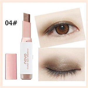 Double Color Eyeshadow Stick Stereo Gradien Shimmer Color Eye Shadow Cream Pen Eye Makeup Palette Cosmetics - case-o-rama.com