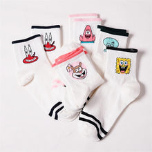Load image into Gallery viewer, Fashion Cartoon Character Cute Short Socks Women Harajuku Cute Patterend Ankle Socks Hipster Skatebord Ankle Funny Socks Female - case-o-rama.com