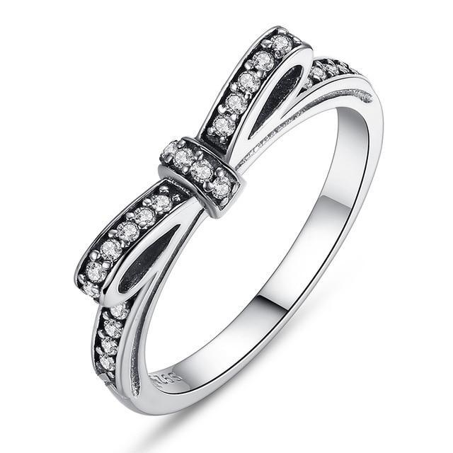 WOSTU Hot Sale 925  Sterling Silver Rings For Women European Original Wedding Fashion Brand Ring Jewelry Gift - case-o-rama.com