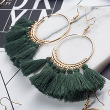Load image into Gallery viewer, 2018 Fashion Bohemian Ethnic Fringed Tassel Earrings for Women Golden Round Circle Ring Dangle Hanging Drop Earrings Jewelry - case-o-rama.com
