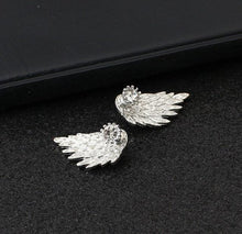 Load image into Gallery viewer, Crystal Flower drop Earrings For Women fashion Jewelry Double Sided Gold Silver earrings gift for party best friend A55 - case-o-rama.com
