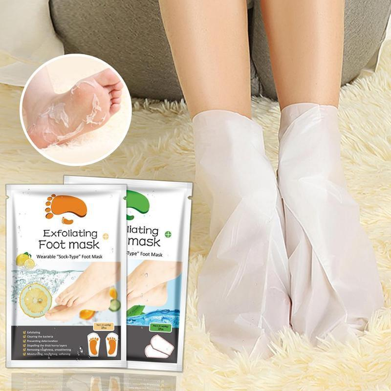 2PCS Exfoliating Foot Mask Socks For Pedicure Socks For Feet Peeling Baby Foot Mask Health Care Skin Care Feet Dead Skin Removal - case-o-rama.com
