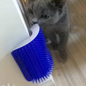 Pet cat Self Groomer Grooming Tool Hair Removal Brush Comb for Dogs Cats Hair Shedding Trimming Cat Massage Device with catnip - case-o-rama.com