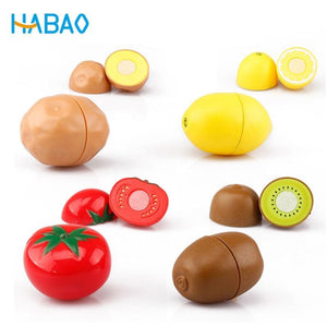 Pretend Play Set Educational Cooking Simulation Miniature Food Model Fruits and Vegetables Kids Kitchen Toys for Children Girls - case-o-rama.com