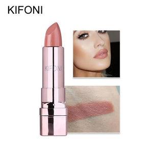 New Arrival KIFONI brand makeup beauty matte lipstick long lasting tint lips cosmetics lip stick maquiagem make up red batom - case-o-rama.com