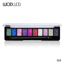Load image into Gallery viewer, WODWOD Brand Makeup Palette 10 Color Nude Matte Eyeshadow Shimmer Diamond Glitter Eye Shadow - case-o-rama.com
