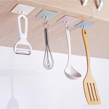 Load image into Gallery viewer, Plastic Kitchen Adhesive Hooks - Hanging Shelf Organizer Rack - case-o-rama.com