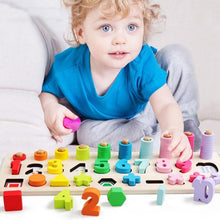 Load image into Gallery viewer, Wooden Montessori Early Math and Geometric Shapes Puzzle - case-o-rama.com