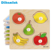 Load image into Gallery viewer, New Hand Grab Board Puzzle Wooden Toys For Child Cartoon Animal Fruit Wood Jigsaw Kids Baby Early Educational Learning Toy X-D01 - case-o-rama.com