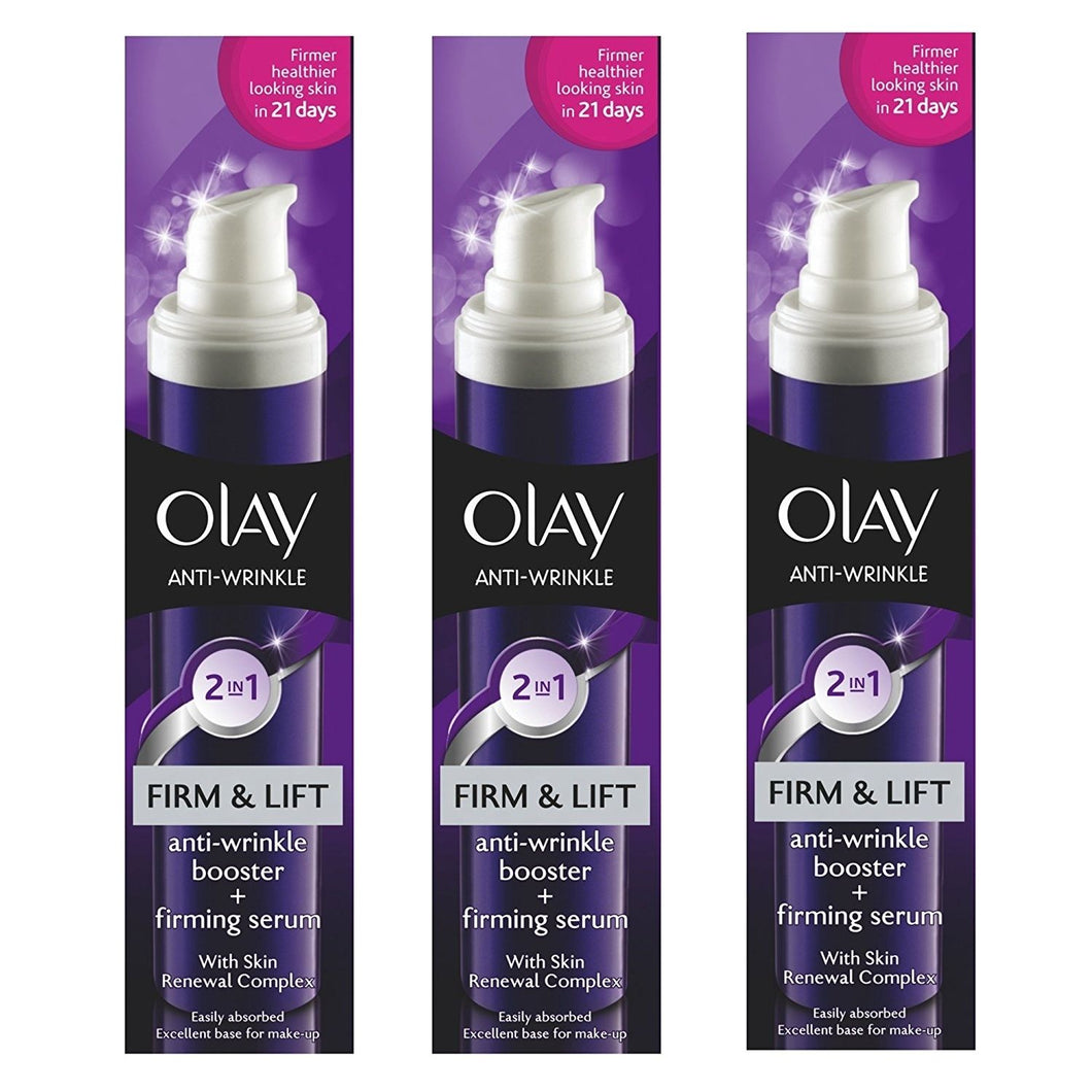 Olay Anti Wrinkle 2in1 Firm & Lift Day Cream + Serum 50ml (3 pack)