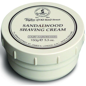 Taylor of Old Bond Street Sandalwood Shaving Cream - 150 g