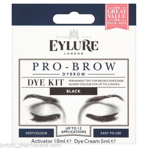 Eylure Dybrow BLACK Glossy Brows Eyebrow Dye Kit