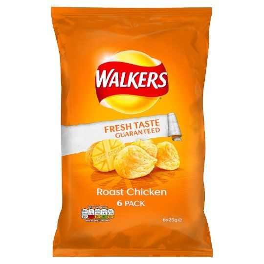 Walkers Roast Chicken Crisps - 6x25g