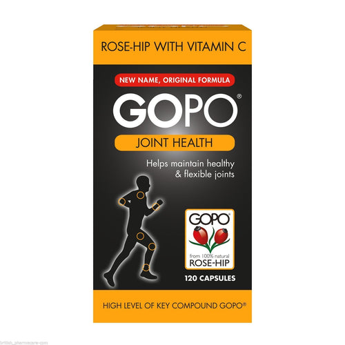 GOPO Joint Health Rose-Hip With Vitamin C - 120 Capsules