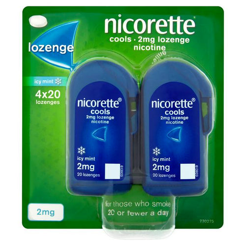 Nicorette Cools Lozenges Mint 2mg 80 Pack (4x20)