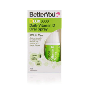 BetterYou DLUX 3000 Spray - 3000IU of vitamin D3 - 15ml