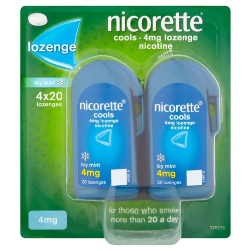Nicorette Cools Lozenges Mint 4mg 80 Pack (4x20)