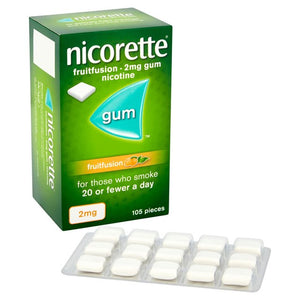 Nicorette Gum Fruit Fusion 2mg 105 pieces