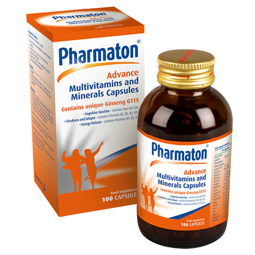 Pharmaton Advance Multivitamin and Mineral Capsules, 100 Capsules