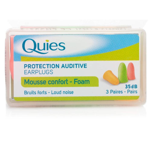 QUIES PROTECTION AUDITIVE EARPLUGS - 3 PAIRS