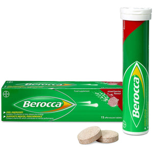 Berocca Mixed Berries Flavour Effervescent Tablets 15 Tablets