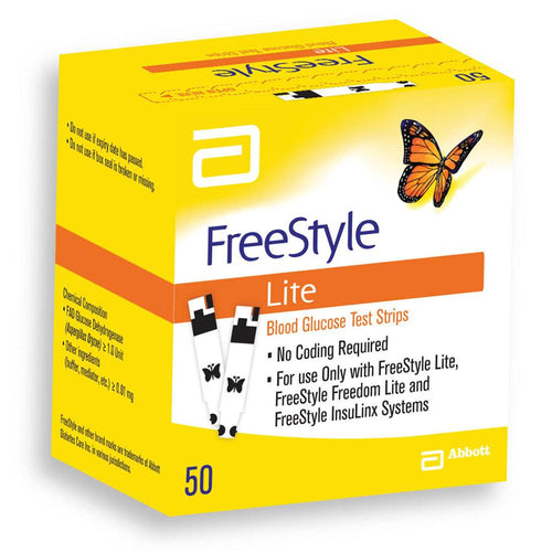 Freestyle Lite Testing Strips 50 Test Strips