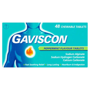 Gaviscon Tablets Peppermint 48 Tablets