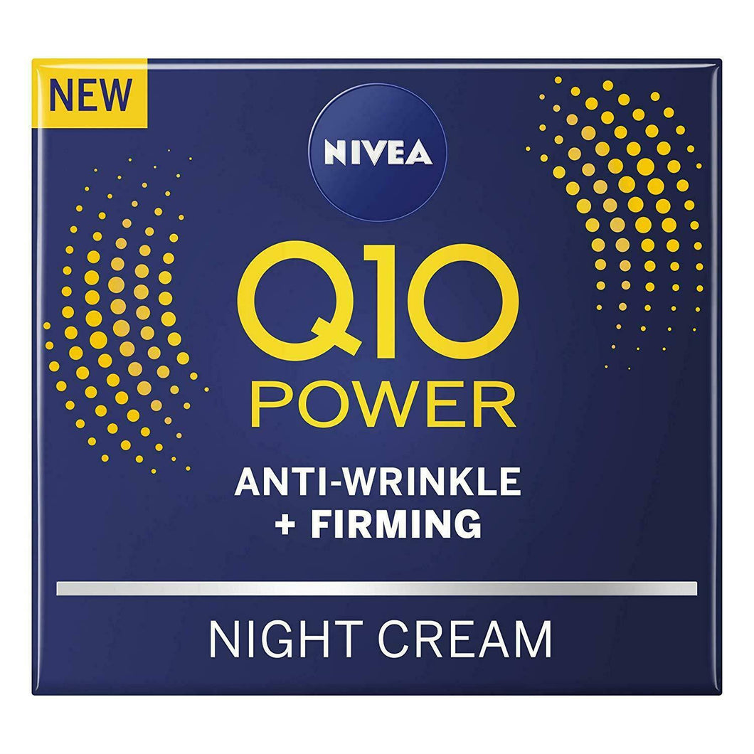 NIVEA Q10 Power Anti-Ageing Night Cream Anti-Wrinkle Firming 50ml