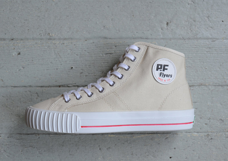 PF Flyers Center Hi Made in the USA - Natural