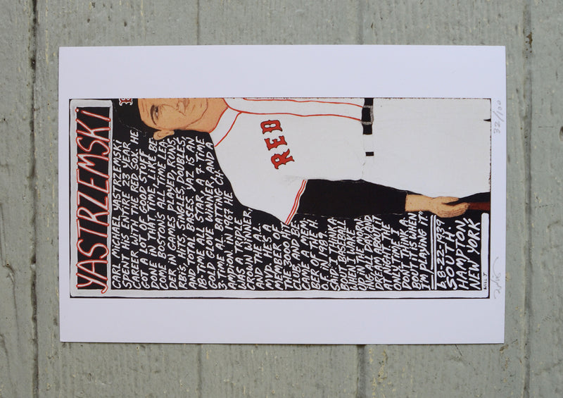 Will Johnson Art Print - Carl Yastrzemski