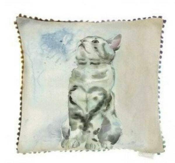 Voyage Tabby Cat Cushion