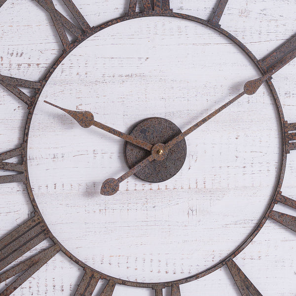 Rustic Aged Numerals Wooden Wall Clock