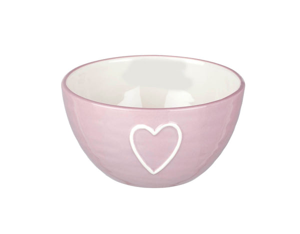 Parlane Heart Love Bowl In Dusky Pink