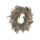 Feather Candle Wreath