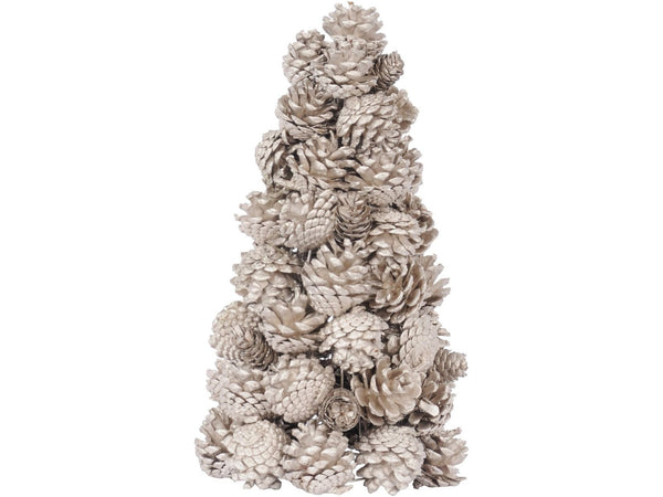 Libra Gold Pinecone Small Natural Tree