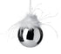 Silver Glass Christmas Tree Decoration With Feathers