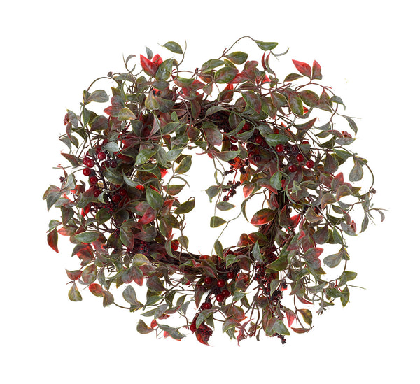 Christmas Wreath Leaves With Berries