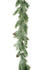 Christmas Garland In Dust Green Pine With Pine Cones