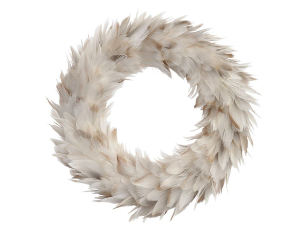 Libra Grey Feather Large Wreath
