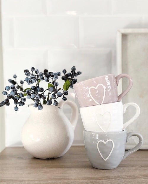 Mug Love Earthenware Dusky Pink Mug