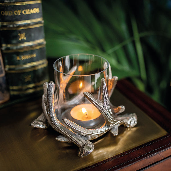 Small Antler Tea Light Holder